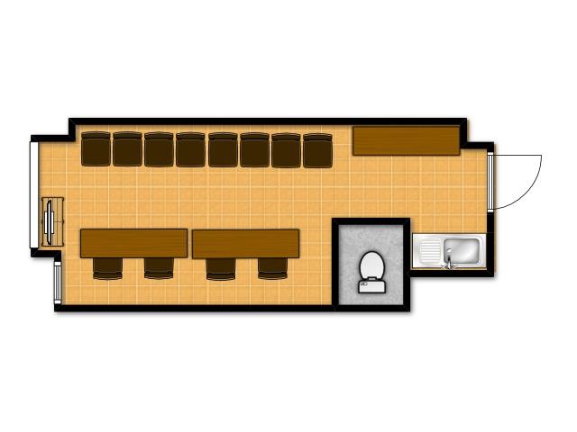 横浜の貸し会議室 レンタルスペース テラスの面接・オーディション向けテーブルレイアウト