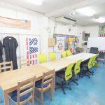 江東区 総武線 亀戸 貸し会議室 レンタルスペース 亀戸ベース テーブルを並べたパーティー向けレイアウト