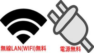 インターネットが無料!無線Lan(Wi-Fi)、有線Lanどちらも無料でご利用可能です