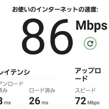 無線LAN、Wi-Fiの速度の目安です
