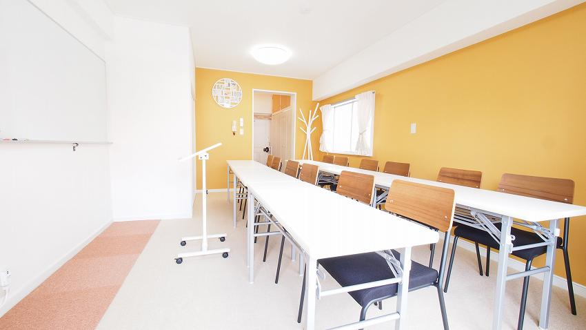 渋谷 貸し会議室 レンタルスペース HIDAMARI 教室 セミナー 説明会向けレイアウト