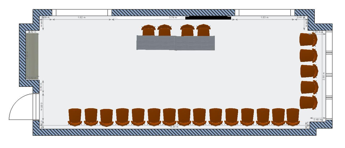 池袋 貸し会議室 レンタルスペースのアズール 面接・オーディション向けレイアウト