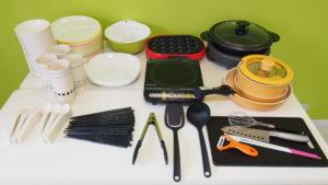 キッチン付きレンタルスペースKOMOREBI調理器具