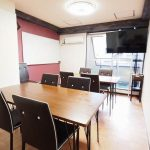 渋谷 貸し会議室 レンタルスペース モルディブ 2つのグループを作ったワークショップ向けレイアウト