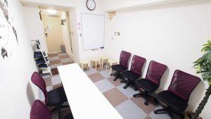 横浜貸し会議室レンタルスペースBASE教室セミナー面接模擬面接向けレイアウト